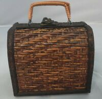 """Vintage Woven Small 4.5"""" Sewing Basket, FREE SHIPPING!"""