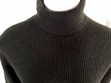 Wendy B M Moss Green Cashmere Sweater Turtleneck Ribbed Women S700
