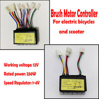 12V 250W Brush Motor Controller for Electric Scooter Bicycle E-Bike Accessories