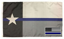 Wholesale Combo 3x5 Texas State Police Flag & USA Memorial Decal Sticker