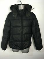 MENS FRENCH CONNECTION NAVY BLUE ZIP UP HOODED PADDED PUFFER JACKET COAT LARGE