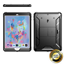 For Apple iPad 9.7 | [Screen Shield] Shockproof Hard Cover Case Black