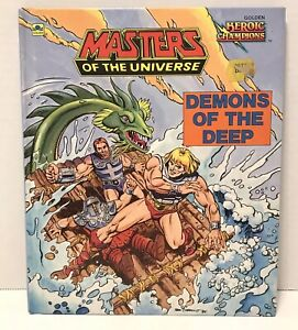 Masters Of The Universe He-Man - Demons Of The Deep R.L. Stine 1985 Golden Book