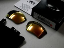 Authentic Oakley Flak Jacket XLJ Polarized Fire Iridium Lenses 13-732