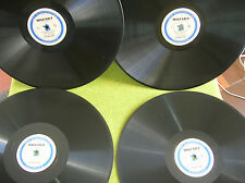 "Rare set of 4 x  12"" 78 rpm DF 21/22/23/24 MOZART -JEAN & PIERRE PASQUIER"