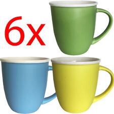 SET OF 6 COFFEE TEA MUG CUP SET KITCHEN DRINKING CERAMIC 10CM GIFT HOT CHOCOLATE
