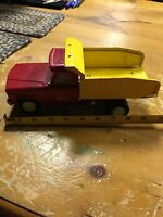 TONKA Red and Yellow Pressed Steel  Dump Truck. Mound Minn.Vintage