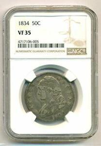 1834 Capped Bust Half Dollar VF35 NGC