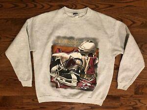 Colorado Avalanche Hockey VTG CSA Gray Sweatshirt Men's XL Nutmeg Mills