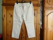 White Stuff Southern Ocean Crop Cropped Jeans Size 12 New Marble Dst Beige