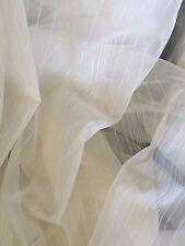 4.6 m x 300 cm Drop BUFF  colour URBANE Sheer Curtain Voile CLEARANCE Piece