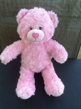 Build a Bear Pink Cuddles Plush Fluffy Bear