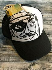 Quicksilver Pirate Snapback Hat Black & White Adjustable Polyester New