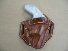 Taurus Protector 85, 605 Poly Rev OWB Leather 2 Slot Pancake Belt Holster TAN RH