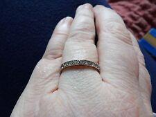 Antico Vittoriano ORO BIANCO 12 carati con spinello Set pieno eternità anello Taglia O