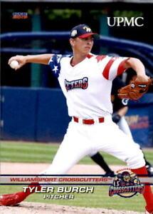 2019 Williamsport Crosscutters Choice 3 Tyler Burch Lewiston Idaho Baseball Card