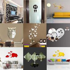 3D Spiegel Hintergrund Wandaufkleber Aufkleber Wohnzimmer Dekoration