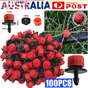 100Pcs Adjustable Irrigation Micro Flow Dripper Drip Head Garden Hose Sprinklers