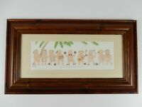 "Dianne L Patterson-Beautifully Framed Humorist Nudist Print -"" Coconuts """