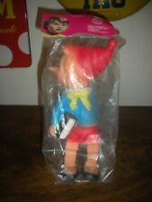 1960 RARE RUBBERTOYS Pinocchio RUBBER TOYS Raro NUOVO On Bag LEDRA 1960 ITALY