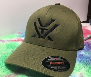 Vortex Optics Logo Embroidered Flexfit Ball Cap Hat Black, Olive Green or Navy