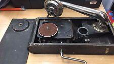 Antik Vintage Retro Grammophon Phonograph Tragbare Hand Kurbel Plattenspieler