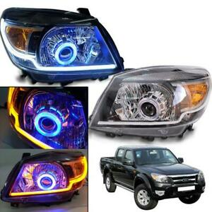 Fit 2009-11 Ford Ranger Pk Ute Projector Front Head Light Lamp Genuine Parts L+R