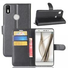BQ Aquaris X / X Pro Cartera Funda Cover Flip Wallet Case bolsa Carcasa Negro