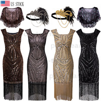 1920s Flapper Dress Gatsby Vintage Wedding Party Formal Evening Cocktail Dress
