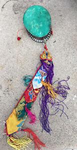 Antique Tantric Hand Drum (Damaru ) From Nepal, Tibet, Or China. Kapala Ritual