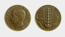 pcc2131_51) Vittorio Emanuele III (1900-1943) 5 cent Spiga 1937