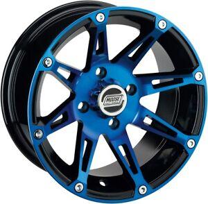 Moose 387X ATV/UTV Rear Wheel - 14x8 4/110 4+4 Offset - Blue