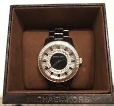 Michael Kors Baguette Crystal Black Ceramic Women's Watch Swarovski MK5362