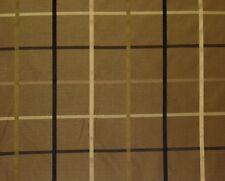 """PLAZA CAFE #53653 BROWN PLAID TAFFETA FAUX SILK DESIGNER FABRIC BY YARD 57""""W"""