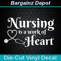 Nursing sticker decal *E369* doctor uniform hospital scrubs shoes nurse rn lpn