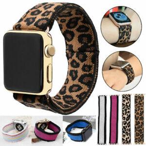 Elastic Scrunchie Nylon Loop Band Strap For iWatch Apple Watch 6 5 4 3 2 38-44mm