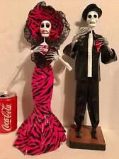 Lg Day Of The Dead Skeleton Wedding Couple Figurine Statue Dia de los Muertos