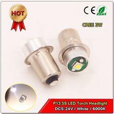 2pcs 3W DC 5-24V Cree P13.5S Led Flashlight Replacement bulb Lantern Work Light