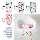 Baumwolldecke Baby Blumen Badetuch Schlafsack mit Haarband Set