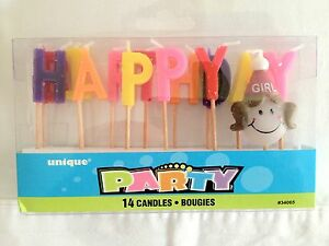 BIRTHDAY GIRL HAPPY BIRTHDAY CANDLES PARTY OR OTHER SPECIAL OCCASSION
