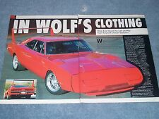 """1970 Dodge Charger Daytona Clone Article """"In Wolf's Clothing"""" Viper Powered"""