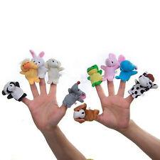 10pcs Velvet farm zoo Animals Finger Puppets Plush Toy Set kid  Bed story teller