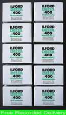 ILFORD DELTA 400 35MM  B. & W. 36 EXPOSURE FILMS  X 10   NEW UK STOCK