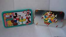 WALT DISNEY MICKEY MOUSE MINNIE MOUSE DONALD DUCK TIN PENCIL CRAYON CASE