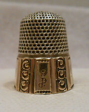 Antique Sterling Silver & 14K Gold Thimble by Stern Bros. Co. *Circa 1900s