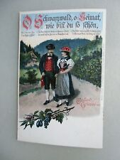 Ansichtskarte Schwarzwald Trachten um 1900 Künstlerkarte