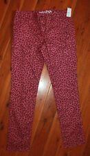 NWT GAP Pink Super Skinny Leopard Print Jeans Size 14.5