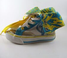 BABY PHAT INFANT 5 M Kimora Lee Simmons white high tops blue/yellow/white shoes