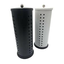 Spare Toilet Paper Roll Holder Stand Storage Bathroom Organizer Black White MEL