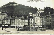 CPA - Carte postale - France -Voiron La grande Fontaine et la Vierge (CPV128)